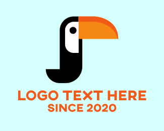 Jungle Bird - Tropical Toucan Bird logo design