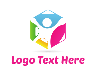 Leadership - Human Hexagon logo design