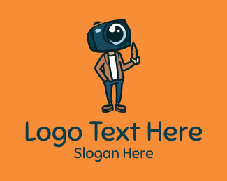 Vlogger - Vlogger Camera Guy logo design