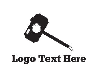 Hammer - Selfie Stick logo design