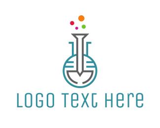 Lab - Metal Lab logo design