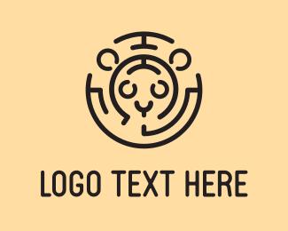 Bobcat - Feline Labyrinth  logo design