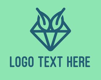 Jewelery - Blue Diamond Leaves logo design