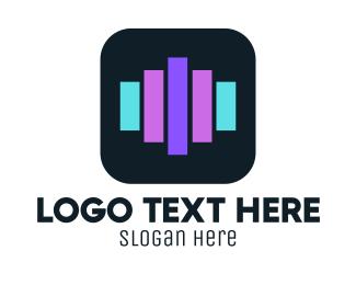 Listen - Audio Bars logo design