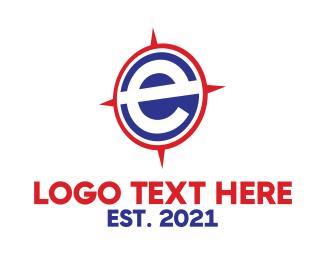 Compass - E Compass logo design