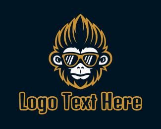 Chimp - Hipster Chimp Gaming logo design