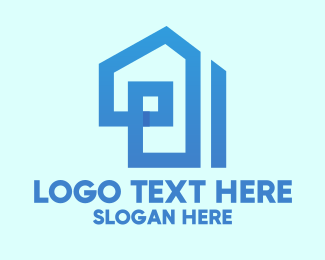 Architectural Firm - Blue House Construction logo design