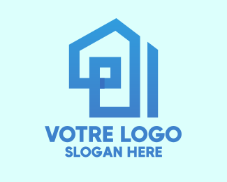 Construction Blue House Construction logo design