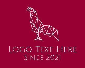 Poultry - Rooster Monoline logo design