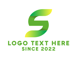 Eco Energy - Green Letter S logo design