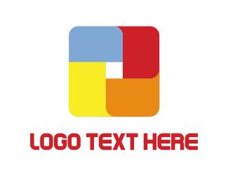 Pop Art - Abstract Cube logo design