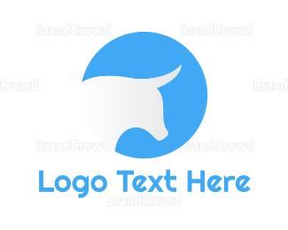 Buffalo - Outline Bull Head logo design