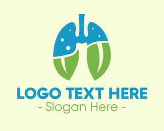 Cancer - Fresh Breath Lungs logo design
