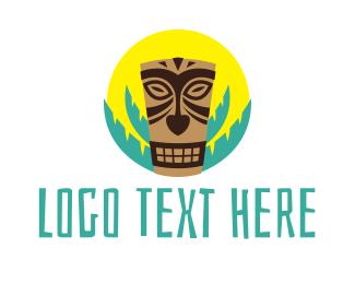 Hawaii - Tiki Mask logo design