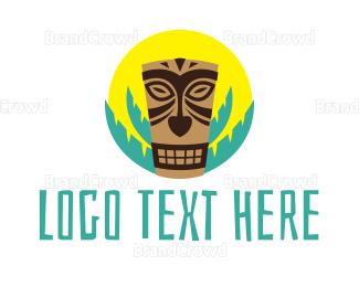Fiji - Tiki Mask logo design