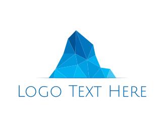 Cold - Geometric Iceberg  logo design
