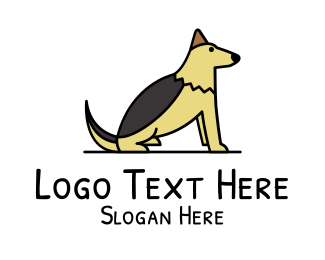 Brown Dog - Dog Illustration logo design