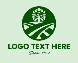 Fields - Farm Field Tree logo design