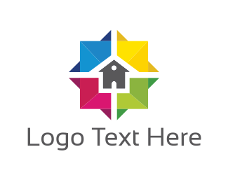 Painting - Colorful House logo design