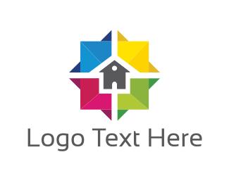 Home Improvement - Colorful House logo design