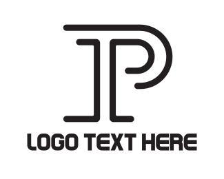 Paleo - Minimalist Letter P logo design