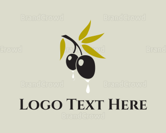 Italian Food - Olive Oil  logo design