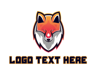Wolf Pack - Fox Gaming Sports Mascot logo design