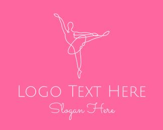 Dancing - Elegant Ballerina Twirl logo design