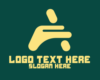 Digital Printing - Abstract Digital Letter A logo design