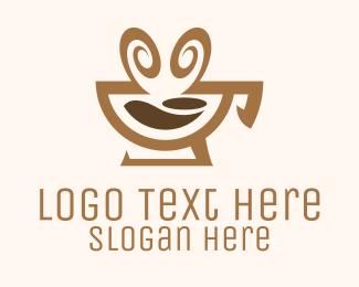 Espresso - Brown Aromatic Coffee Cafe logo design