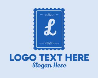 Biscuit -  Blue Stamp Lettermark logo design