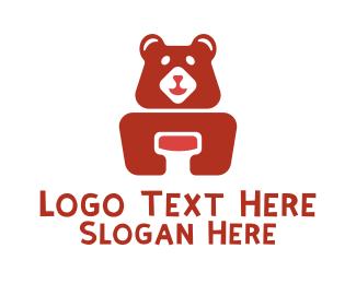 Teddy - Zoo Bear Sanctuary logo design