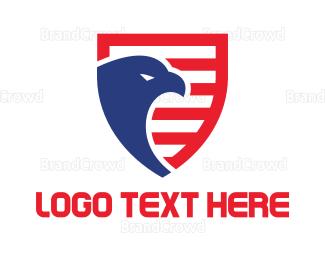 Shield - Eagle Shield logo design