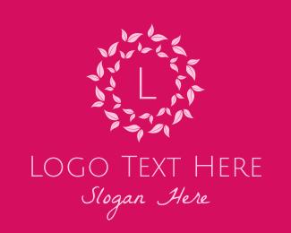 Reiki - Pink Leaves Spa logo design