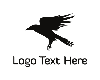 Raven - Black Crow logo design