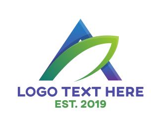 Combination - Modern Leaf Letter A logo design