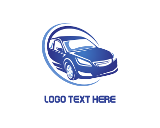 Furnitureinterior Blue Car logo design
