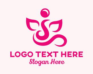 Letter J - Curvy Leaf Letter J logo design