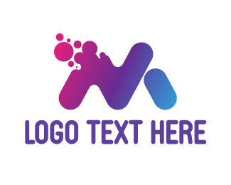 Messaging - Disintegrating M logo design