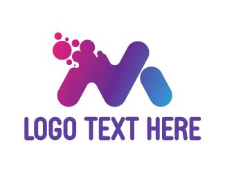 Messenger - Disintegrating M logo design