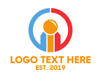 Tradesman - Colorful Circle Symbol logo design