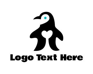 Penguin - Penguin Love logo design