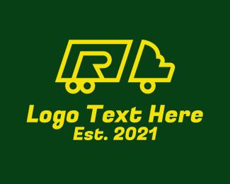 Shipment - Delivery Truck  Letter R logo design