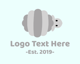 Shepherd - Striped Sheep logo design
