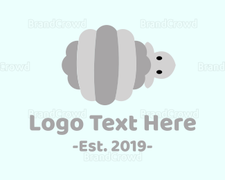 Sheep - Striped Sheep logo design