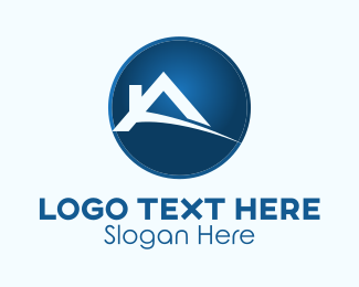 Roofing Service - Realty Home Letter A logo design