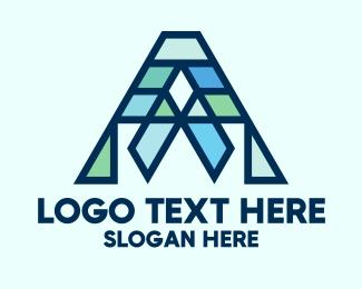 Letter A - Modern Geometric Letter A logo design