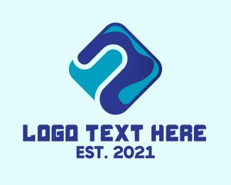 Telco - Blue Tech Diamond  logo design