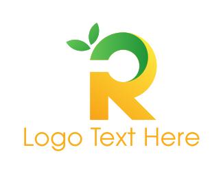 Letter R - Lemon Letter R logo design
