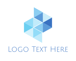 Finance - Blue Glass Tiles logo design